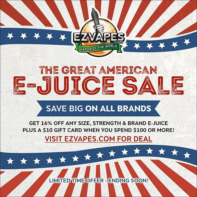 GREAT AMERICAN E-JUICE SALE