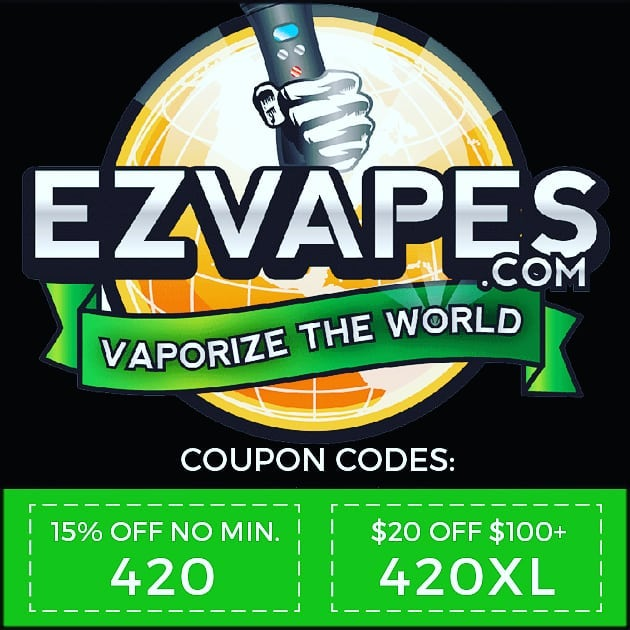 Redeem at EZVAPES.COM – Valid thru 4/20/18 on over 1000 items  #420sale #420deals #420couponcodes #ezvapes #vapetheworld