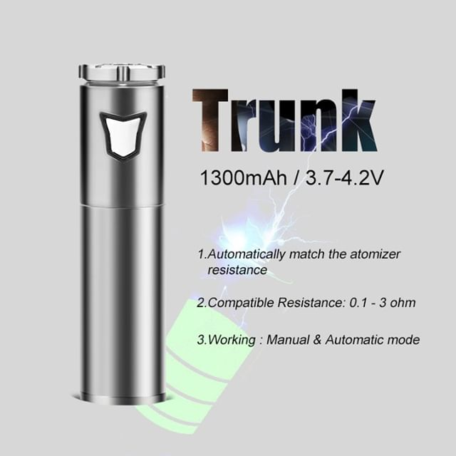 Trunk dual mode batteries are a perfect pair with the Motar waxy vape tank. Back in stock and ready to ship at ezvapes.com #ezvapes #vtw #vapetheworld #longmada #longmadatrunk #trunkbattery #longamdamotar #motar #vapetank #dabstagram #dabstagram710 #dabtank #dabsdaily