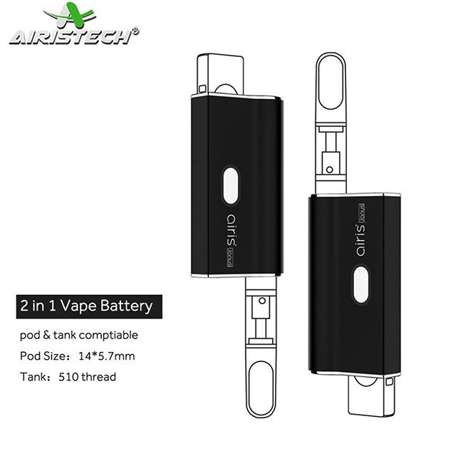 The Janus by Airistech is a 2 in 1 vape battery deigned to fit the most popular rectangular pods and 510 threaded cartridges of any width or height. Available with an instant discount for a limited time at ezvapes.com #ezvapes #vtw #vapetheworld #airistech #janus #airisanus #pod #vape #pods #podbattery #cartridge #cartridges #cartridgebattery #710 #oil #oilpod #oilcartridge #oilcartridges